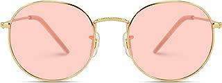Polarized Round Retro Tinted Lens Metal Frame Sunglasses