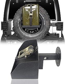 u-Box Jeep Wrangler Spare Tire Jerry Can Holder w/Tall Tray (Jeep Wrangler TJ JK JL 97-20)