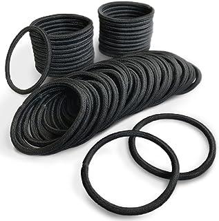 (PETIT AMORE) ヘアゴム リングゴム 大容量 50本セット 結び目なし 外径5cm 太さ4mm リッチブラック