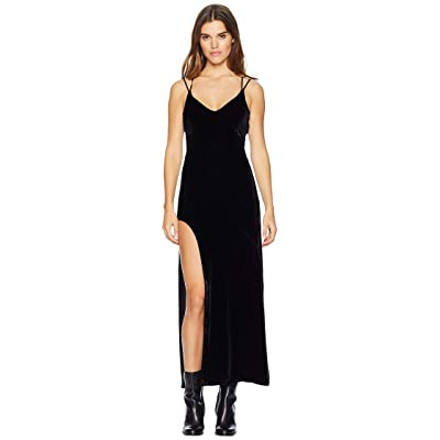 For Love and Lemons Nadine Velvet Maxi Dress (Noir) Women