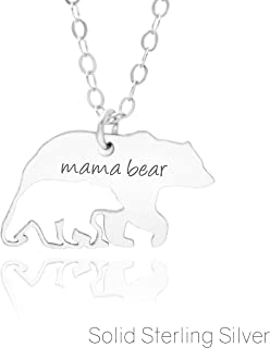 MAMA BEAR NECKLACE - PURE Sterling Silver - A Premium Made Necklace For Moms and New Moms