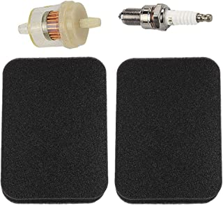 Harbot GP5500 Air Filter for Generac GP6500 GP6500E GP7500 GP7500E GP8000E H5500 H7500 RS5500 RS7000E Generator with Fuel Filter Spark Plug (2 Pack)
