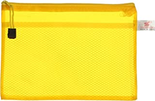 Apple 754A H104 Plastic Zipper File, A5 Size - Yellow