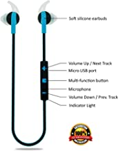 Wireless in-Ear Headphones Sweatproof Earbuds with Microphone for Phone Calls - Best Headset Earphones for Running Exercise Sport Gym on iPhone 6 6s Plus 5C 5S Android Samsung Galaxy S6 S5