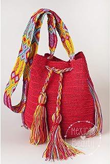 Bolsa tipo Morral de Crochet/Morral Tzotzil