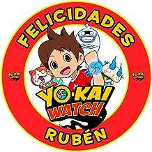 OBLEA de Papel de azúcar Personalizada, 19 cm, diseño de Yo-Kai Watch