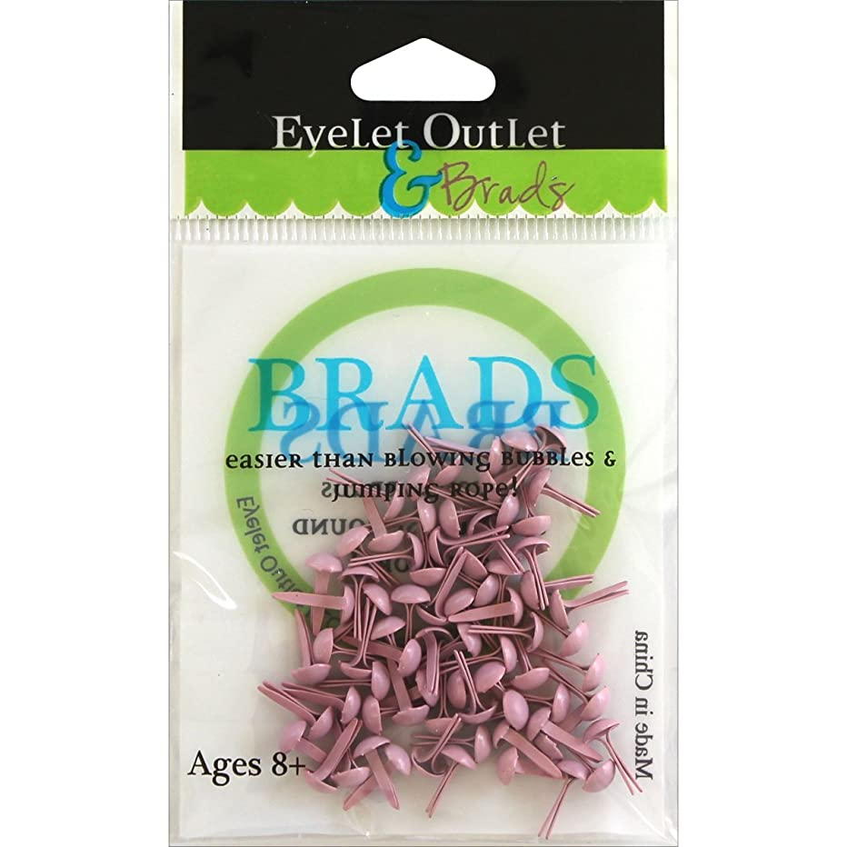 Eyelet Outlet Round Brads (70 Pack), 4mm, Pastel Pink
