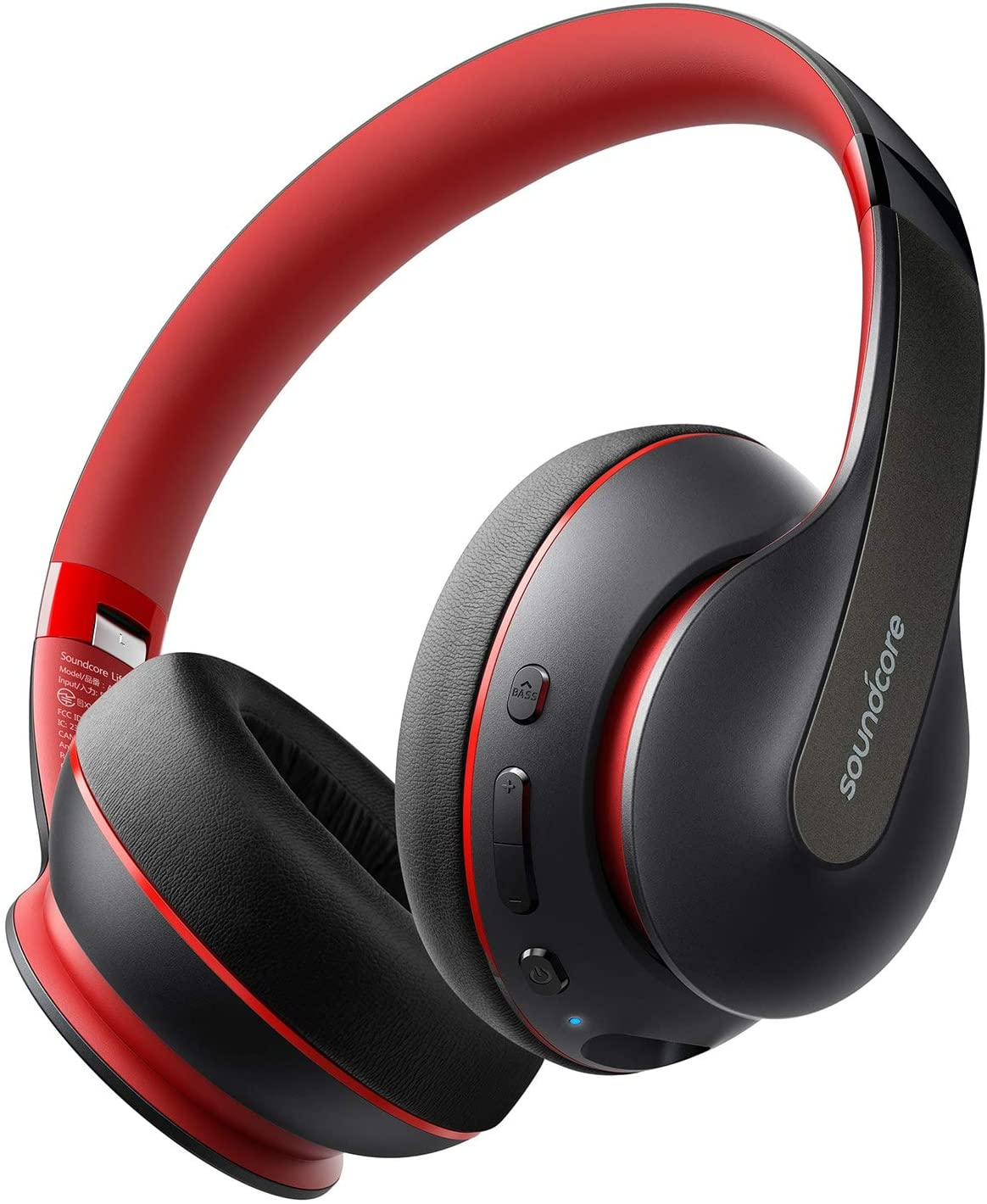 Anker Soundcore Life Q10 Wireless Bluetooth Headphones, Over Ear, Foldable, Hi-Res Certified Sound, 60-Hour Playtime, Fast USB-C Charging, Deep Bass, Aux Input, For Travel, Online Class, Home Office