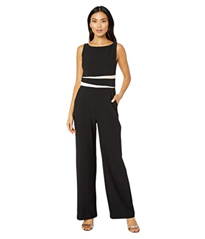 Vince Camuto Kors Crepe Jumpsuit w/ Color-Block Stripes (White/Khaki) Women