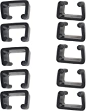 Wicker furniture direct 10 PCS Patio Furniture Clips,Outdoor Sectional Sofa Couch Alihnment Connectors