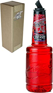 Finest Call Premium Cherry Syrup Drink Mix, 1 Liter Bottle (33.8 Fl Oz), Individually Boxed