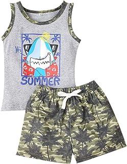 GRNSHTS Baby Boys Sun's Out Guns Out Shorts Toddler Short Sleeve Tops+Shorts 2Pcs Outfits Set