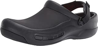Crocs Unisex's Bistro Pro LiteRide Clog Work Men and Women with Innovative Comfort, Black Black 001, 9 10 UK 43/44 EU