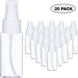 Mini Vaporisateur Vide 80ml 20 Pcs - Bouteille Spray Atomiseur en Plastique Transparent avec Pompe Parfait pour les Huiles Essentielles et le Parfum Taille Voyage Flacon Antifuite Rechargeable