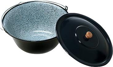 acerto 31172 Original ungarischer Gulaschkessel 14 Liter für Dreibein-Gestell Emailliert  Kratzfest  Geschmacksneutral Gulasch-Topf Suppentopf Glühweintopf Kochkessel mit Deckel für Kesselgulasch