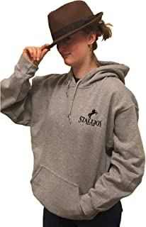 Stallion Pullover Hoodie Sweatshirt - Apparel/Activewear Collection - Breathable Soft Fleece Pullover Hoodie