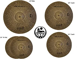 Agean Cymbals Silent Natural R-Series Low Volume Cymbal Pack Box Set+18 Crash