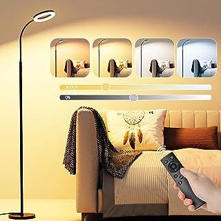 Lampadaire LED GolWof Lampe sur Pied Salon 12W Lampadaire Liseuse Tactile et Télécommand, 6 Couleurs et 6 Luminosité Dimma...