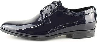 Oxford - Zapatos de ceremonia para hombre, clásicos, artesanales, de pintura azul