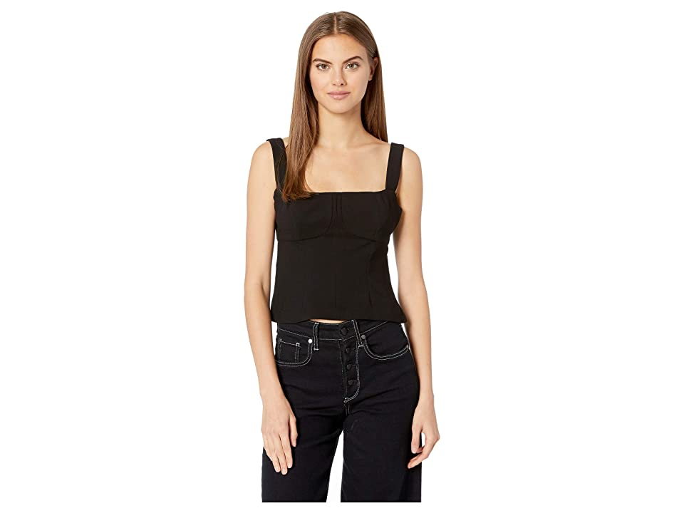 BCBGeneration Bustier Taneck Top (Black) Women's Clothing