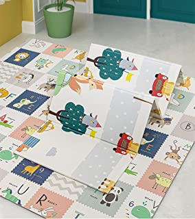 Play Mat, 200 * 180 * 1.5 CM Folding Playmat, Baby Play Mat for Floor Play, Extra Thick Kids Crawling Mat, Water Proof and...