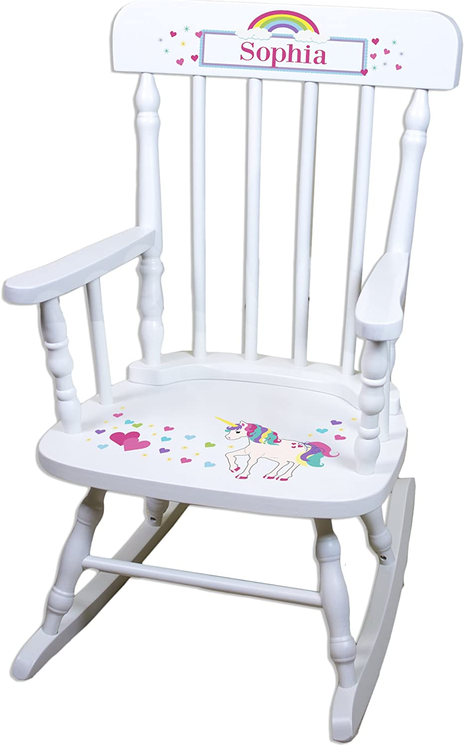 Super beauty product restock quality top Children's Personalized White Chair Rocking Unicorn Mail order