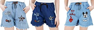 WILFREDO Rough Look Dear Youth NY Denim Shorts for Women's (Pack of 3)