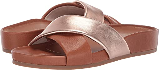 CH British Tan Tumbled Leather/Rose Gold Metallic Leather