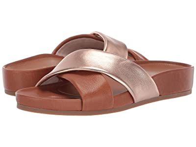 Cole Haan Arielle Sandal (CH British Tan Tumbled Leather/Rose Gold Metallic Leather) Women