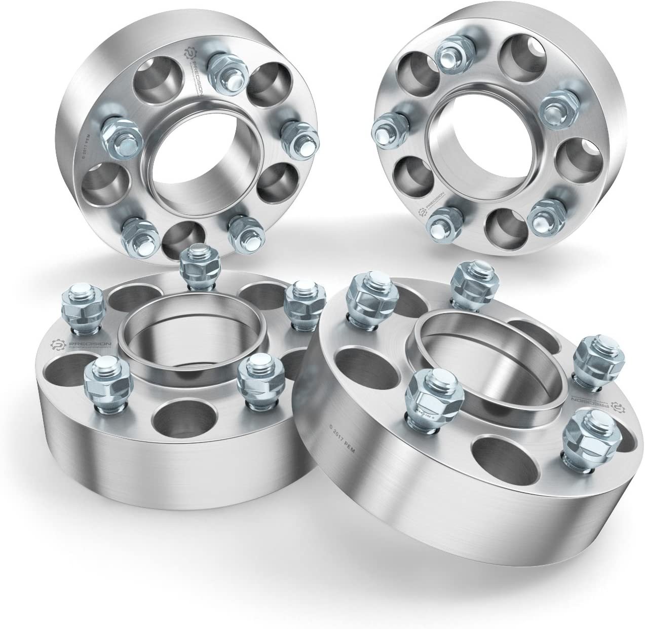 """4pc 5x5.5/"""" to 5x4.5/"""" Wheel Spacers Adapters 1.5/"""" for Ford Bronco E-100 E-150 bs"""