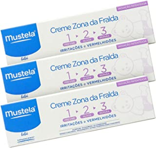 Mustela Kit Creme Vitaminado 123 Preventivo de Assaduras 3x 50ml