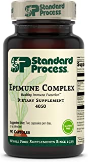 Standard Process Epimune Complex - Whole Food Respiratory Support with Maitake Mushroom Powder, Dried Yeast, Superfruit, C...