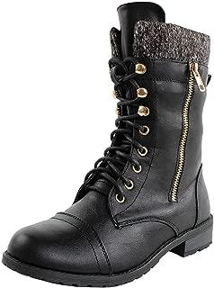 Best flat heel combat boots Reviews