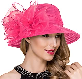 5d72a794232b6 Lady Church Derby Dress Cloche Hat Fascinator Floral Tea Party Wedding  Bucket Hat S051
