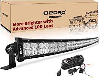 LED Light Bar 52inch CURVED 650W 46400LM OEDRO Upgraded Spot & Flood Combo Beam with 8ft Wiring Harness IP68 WATERPROOF for Fog Driving Offroad Pickup Boat Jeep SUV ATV Truck Light Bar, 3-Yr Warranty