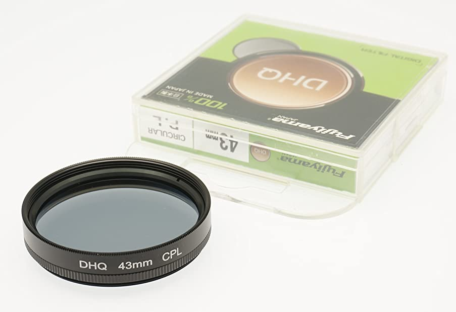 Fujiyama Black 43mm Circular Polarizing Filter for Panasonic Lumix DMC-LX100 / DC-LX100 II Made in Japan