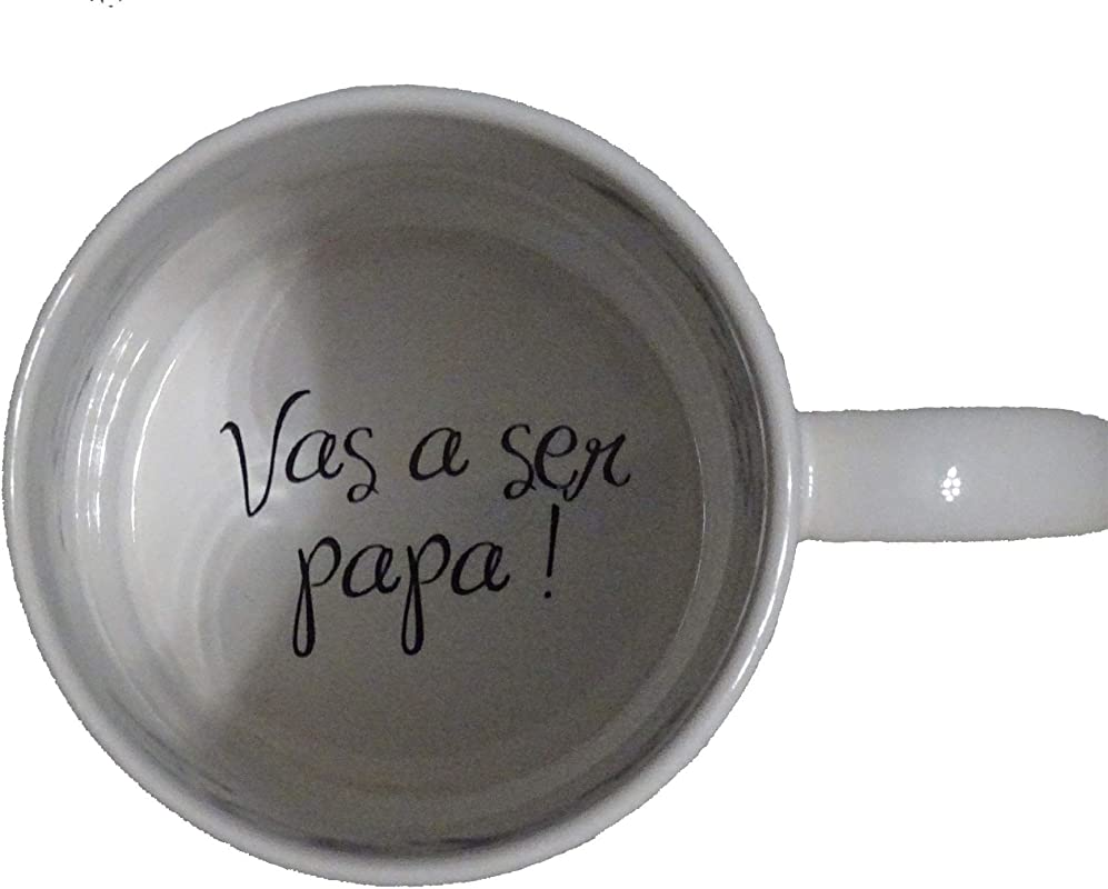 Vas A Ser Papa You Re Going To Be A Dad Coffee Mug Pregnancy Announcement Pregnancy Reveal Bottom Hidden Message Secret Message Coffe Cup