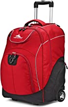 High Sierra Powerglide Lightweight Wheeled Laptop Backpack, Chili Pepper/Black