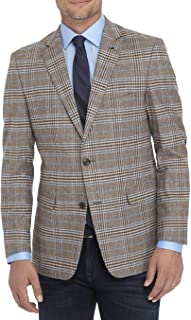 Crown & Ivy Men's Motion Flex with Elbow Patches Stretch Sportcoat