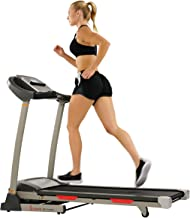 Sunny Health & Fitness Portable Treadmill with Auto Incline, Device Holder, Pulse Grips, 220 LB Max Weight and Shock Absor...