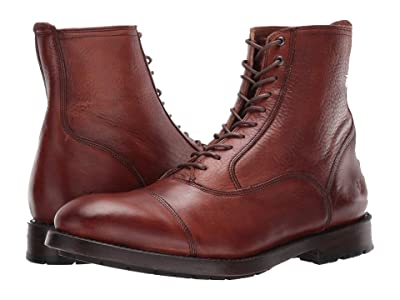 Frye Bowery Bal Lace-Up (Cognac Soft Antiqued) Men
