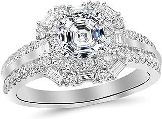 asscher cut diamond eternity ring