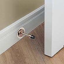 Vand icka 2 Pack roestvrij stalen deurstops & fittingen, zelfklevende deurstopper met rubberen buffer, wandmontage of sto...