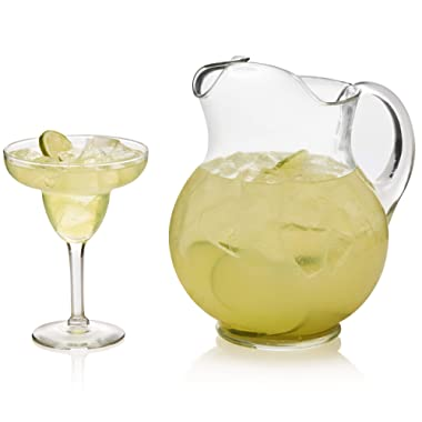 Libbey Cancun Entertaining Set with 6 Margarita Glasses and Pitcher