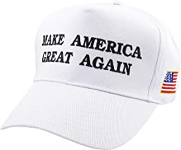 Make America Great Again Our President Donald Trump Slogan with USA Flag Cap Adjustable Baseball Hat Red