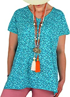 FSSE Women's Printing V Cut Plus Size Baggy T-Shirt T-Shirt Top Blouse