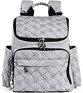 Large Diaper Bag Backpack | Stylish and Multifunction Design with Insulated Pockets, Changing Pad, and Stroller Straps | Neutral Grey for Women and Men - by Eloni Baby