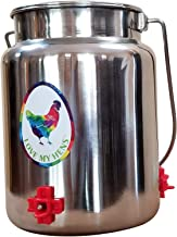 Love My Barnyard Backyard Chicken Poultry Waterer, Stainless 1.3 Gallon (5 Liter) Drinker With 3 Side-Mounted Nipples