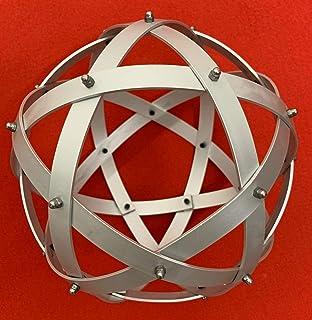 Genesa Pentasfera Alluminio Satinato 21cm di diametro con fasce fissate con dadi ciechi grigi.