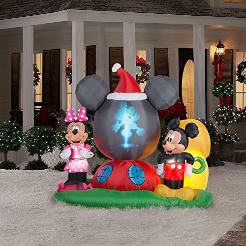 Disney Mickey & Minnie Airblown Panoramic Projection Inflatable - Disney Inflatables Christmas: Amazon.com